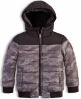 Šedá maskáčová chlapecká zimní bunda