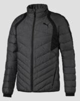 Šedočerná pánská zimní bunda Puma výprodej