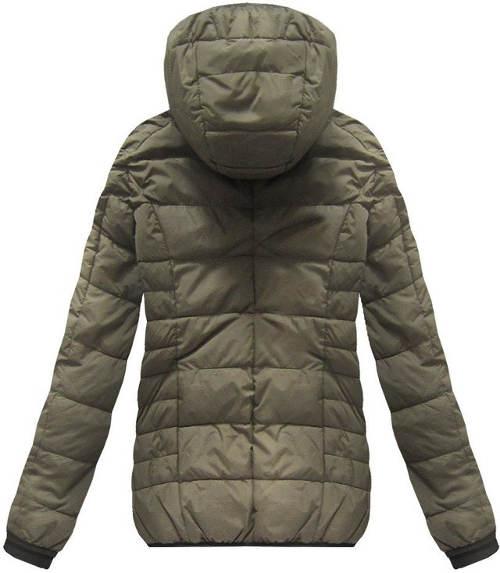 Zimní prošívaná khaki bunda