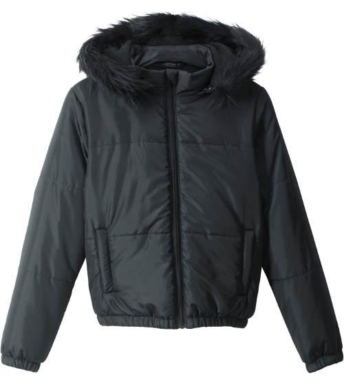 Černá holčičí zimní bunda