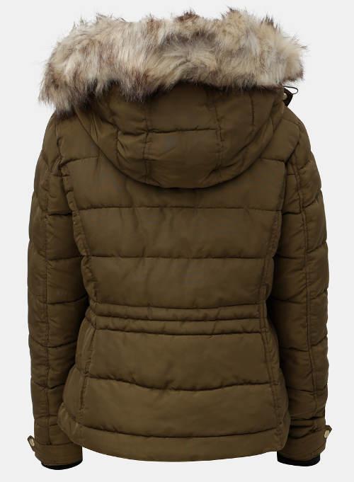 cc67d6eb45b Hnědá prošívaná dámská zimní bunda ONLY Vigga