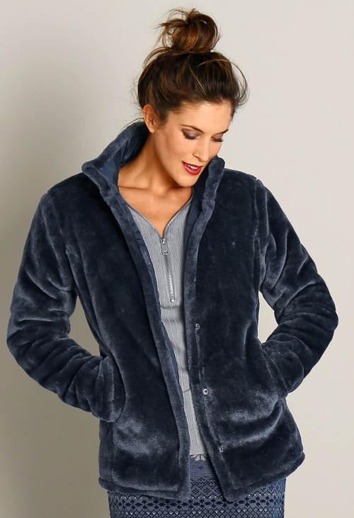 Dámská zimní bunda semišový kožíšek