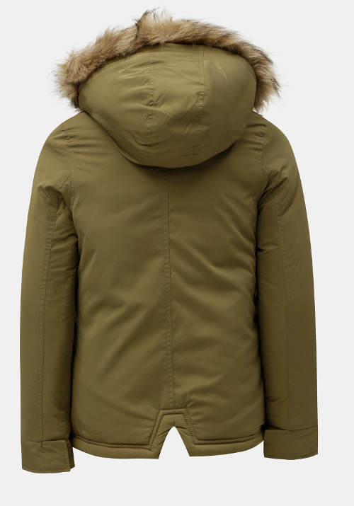 Dívčí khaki zimní bunda