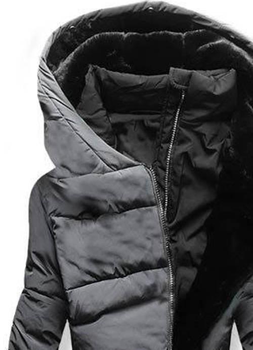Grafitově šedá dámská zimní bunda
