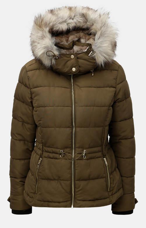 Hnědá prošívaná dámská zimní bunda ONLY Vigga