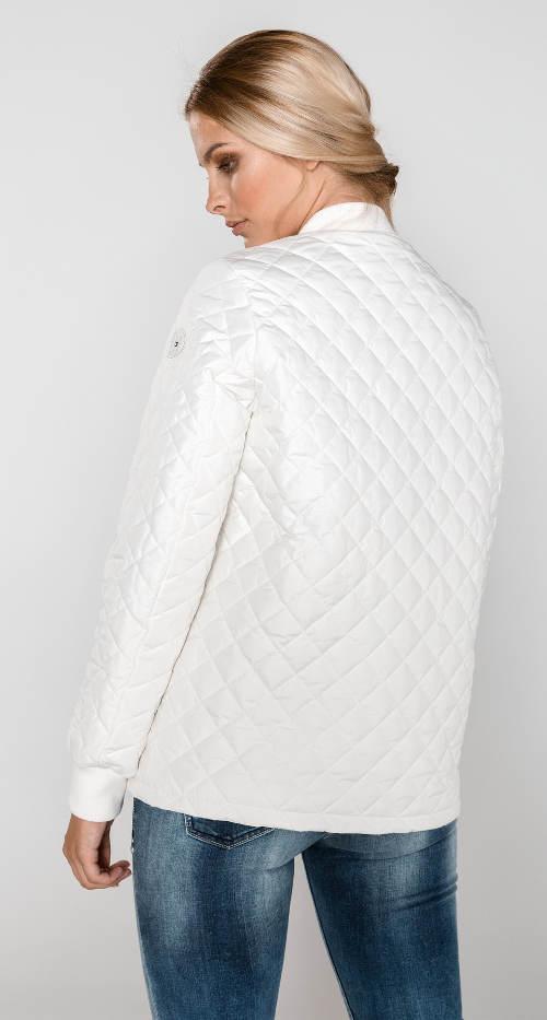 Jarní bílá prošívaná bunda Tommy Hilfiger