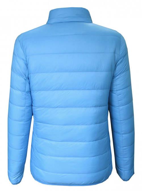 Jednobarevná modrá dámská zimní bunda Lee Cooper