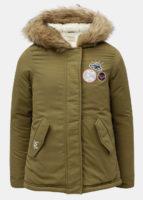 Dívčí parka s kapucí s umělým kožíškem Roxy Feel