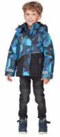 Klučičí zimní bunda do sněhu s reflexními prvky