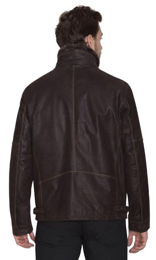 Krátká pánská kožená bunda