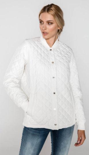 Lehčí bílá prošívaná dámská bunda Tommy Hilfiger