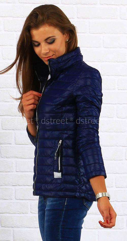 Lehká dámská zimní bunda se stojáčkem