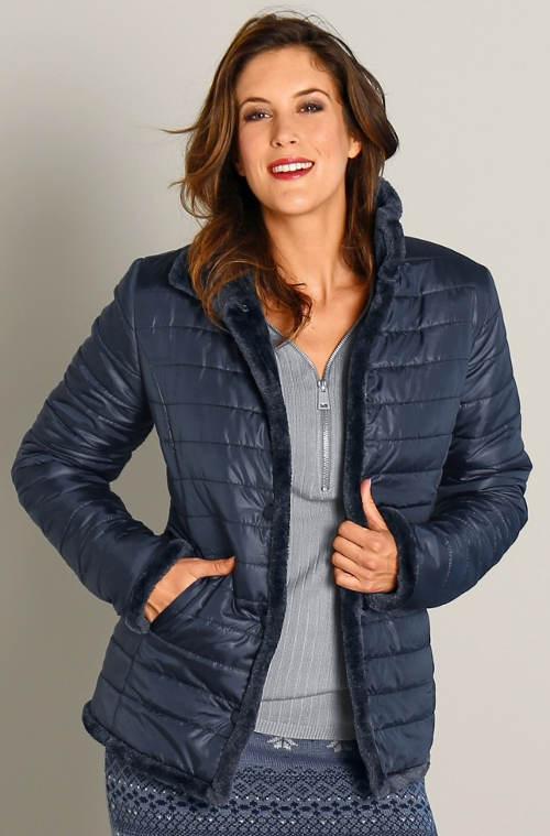 Levná oboustranná dámská zimní bunda