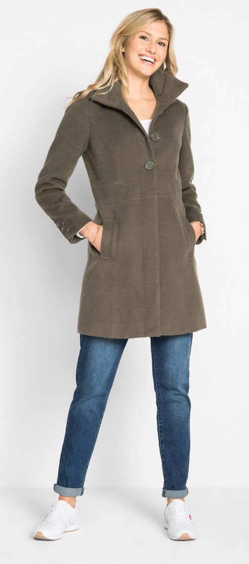 Levný dámský zimní kabát v několika barevných varinantách