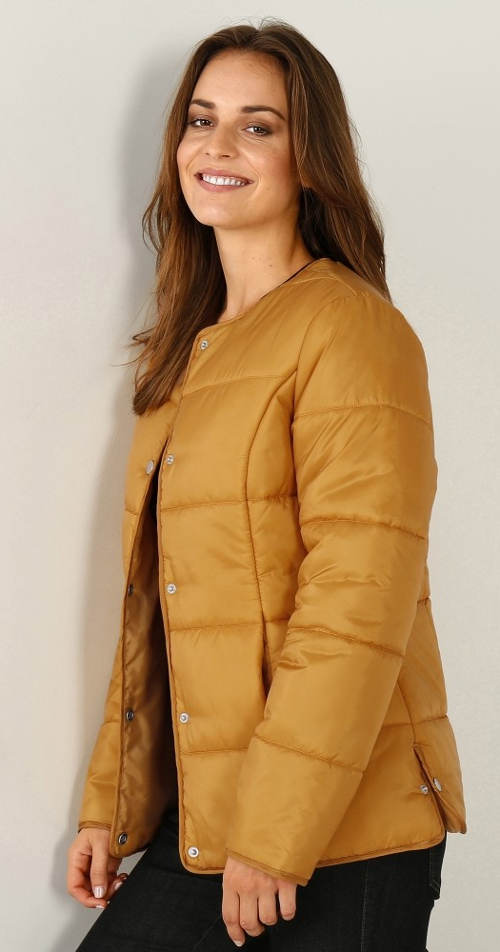 Medová dámská zimní bunda