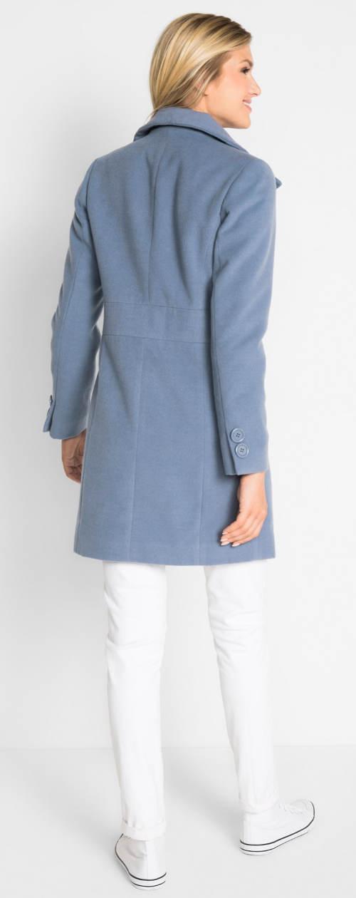Modrý dámský zimní kabát