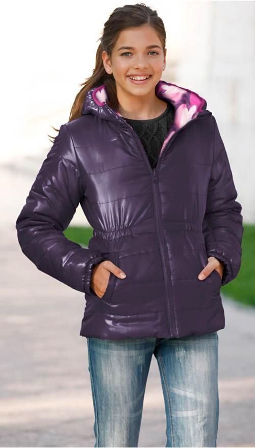 Oboustranná dívčí zimní bunda Bonprix