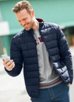 Prošívaná pánská zimní bunda s hřejivou výplní