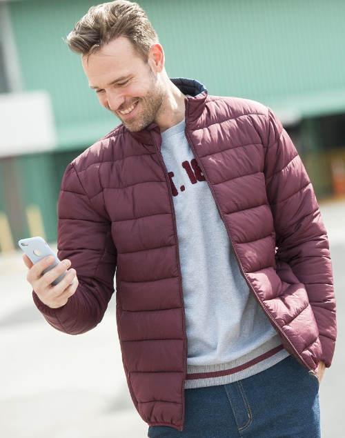 Světle fialová pánská zimní bunda