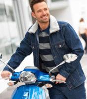 Zateplená džínová pánská bunda