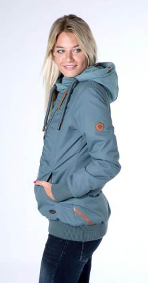 Dámská zimní bunda s pružným nápletem