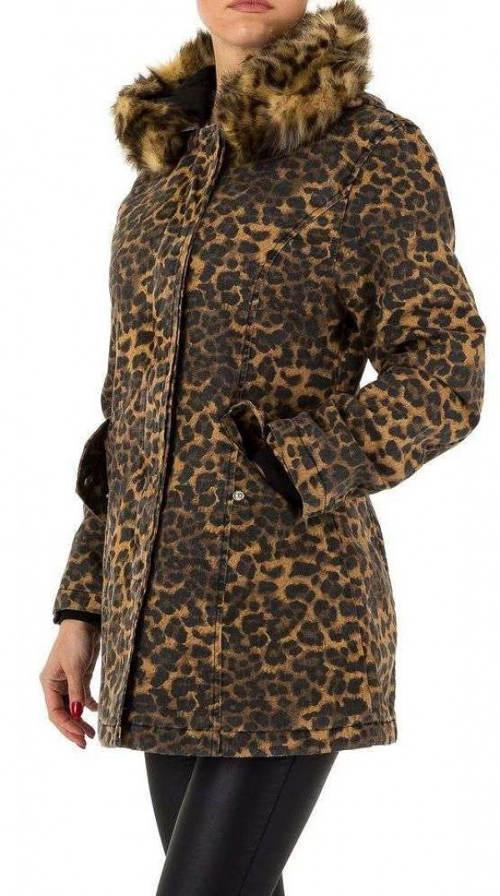 Dámská zimní leopardí bunda