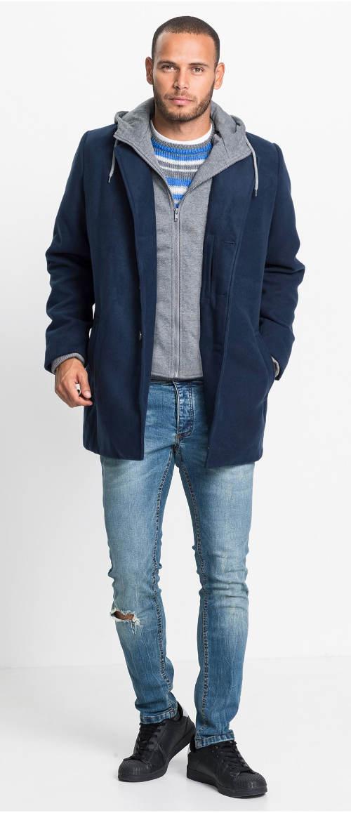 Elegantní zimní kabát pro muže