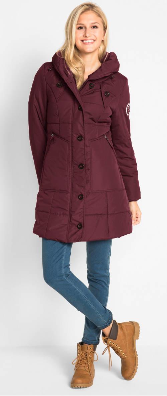 Levný prošívaný dámský kabát v několika barevných provedeních
