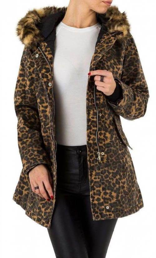 Originální zimní bunda s leopardím motivem