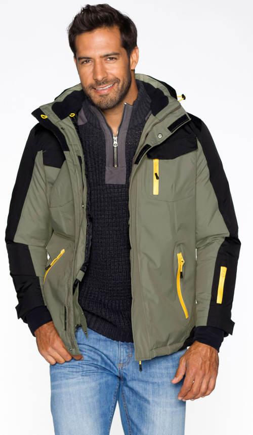 Panská zimní bunda do pasu s reflexními prvky