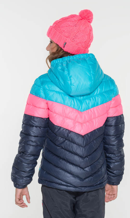 Pestrobarevná dětská zimní bunda