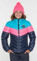 Trojbarevná dívčí bunda