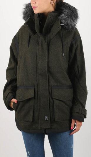 Volný dámský norský zimní kabát FJORD OVOID