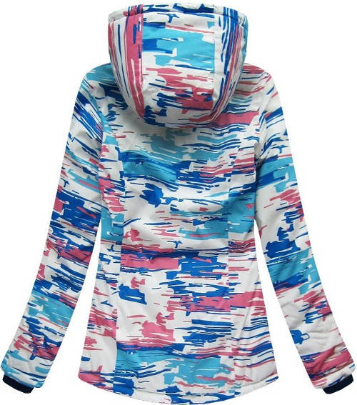 Žíhaná dámská zimní bunda s kapucí