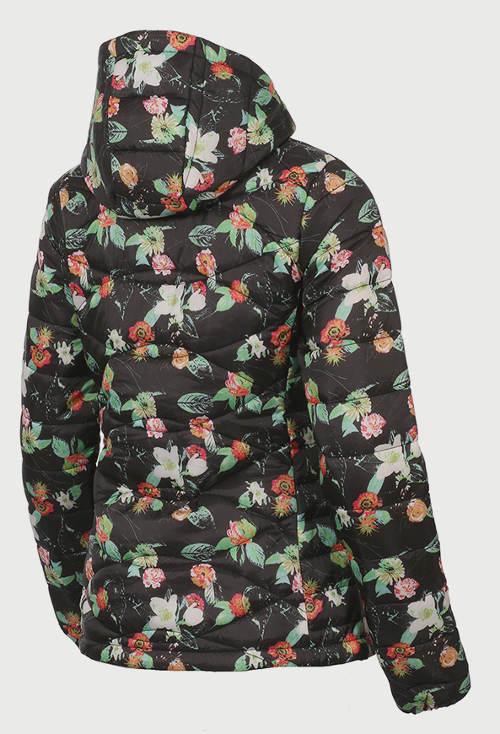 Zimní bunda s potiskem květin