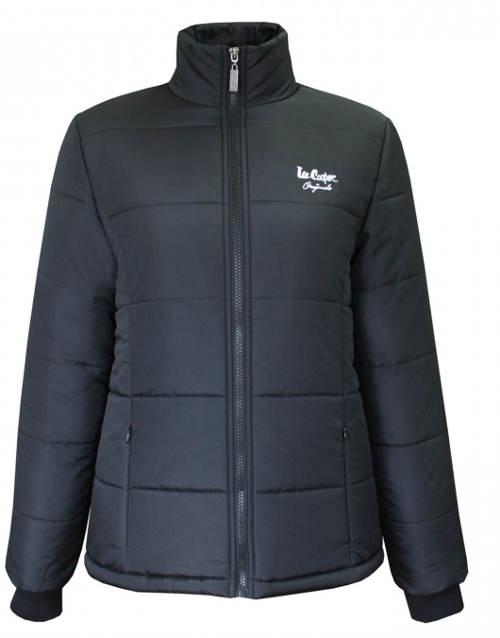 Černá levná dámská zimní bunda Lee Cooper