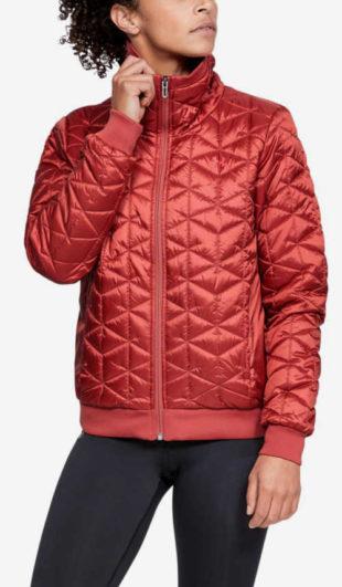 Dámská červená prošívaná bunda pro mladé Under Armour