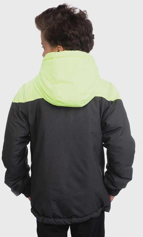 Dětská zimní bunda s velkou kapucí