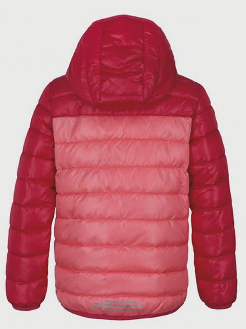Růžová prošívaná dívčí bunda