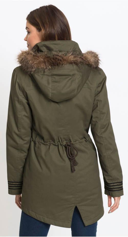 Zimní bunda se stahovací šňůrkou
