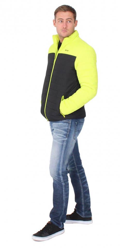 Žluto černá pánská zimní bunda