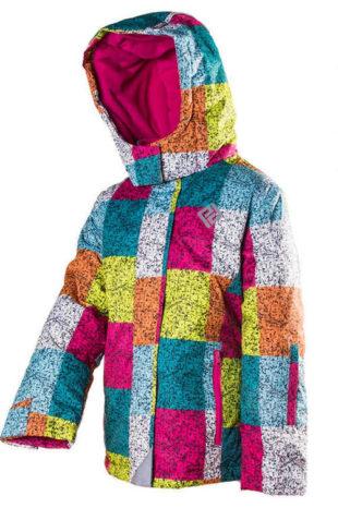 Holčíčí dětská zimní lyžařská bunda Pidilidi
