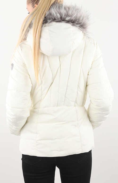 Moderní dámská zimní bunda bílé barvy