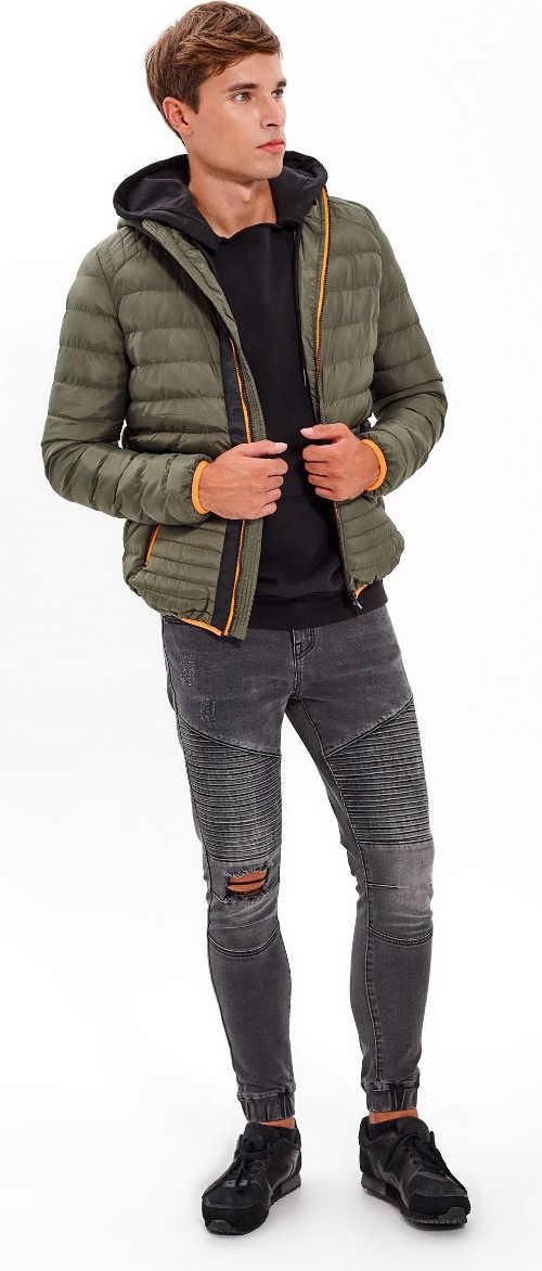 Moderní prošívaná zimní bunda pro mladé muže