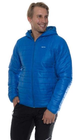 Světle modrá pánská zimní bunda levně