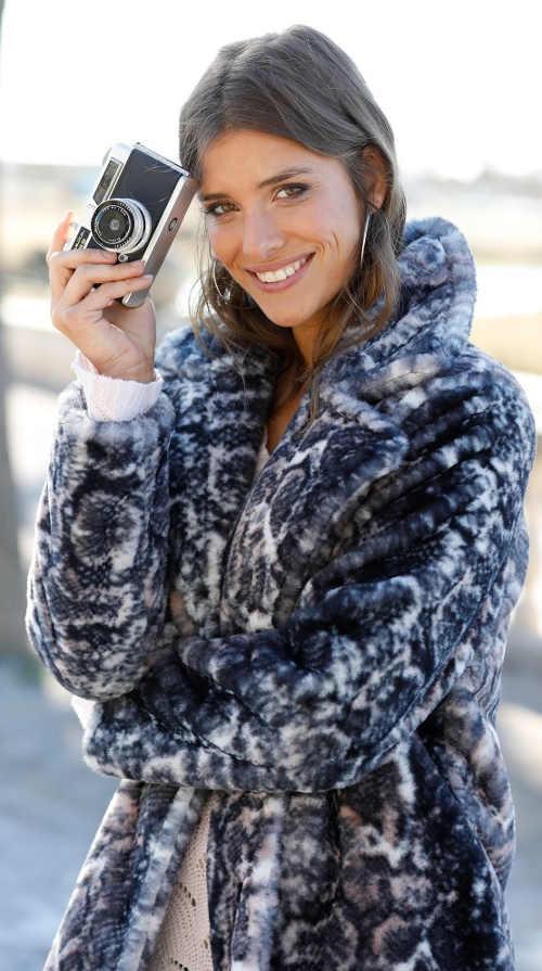 Zimní dámský kabát leopard