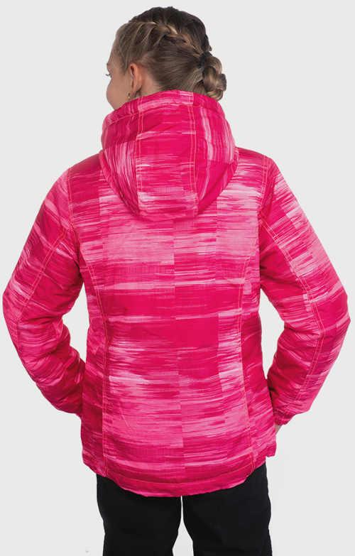 Růžová zimní bunda pro mladou slečnu