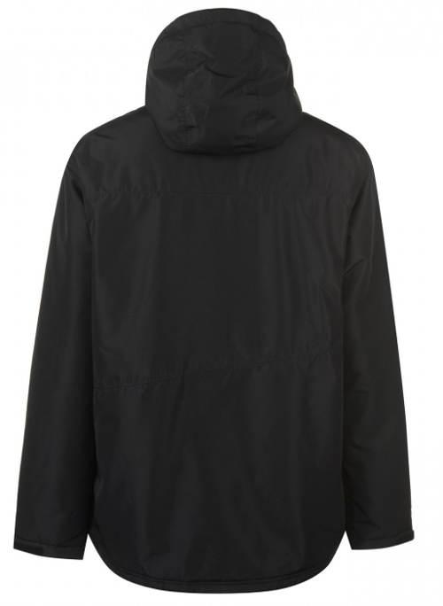 Jednobarevná černá zimní bunda na lyže