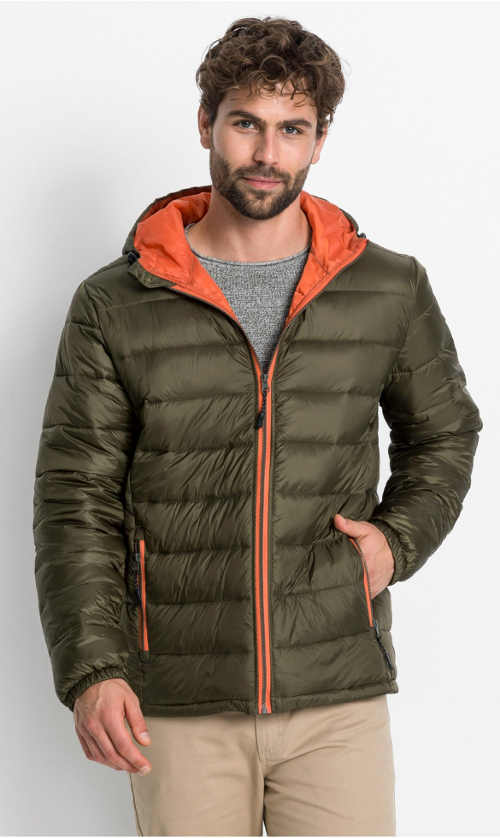 Prošívaná zimní bunda Bonprix s kapucí