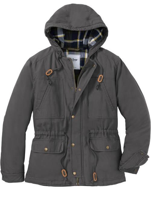 Antracitová pánská zimní bunda s mnoha kapsami